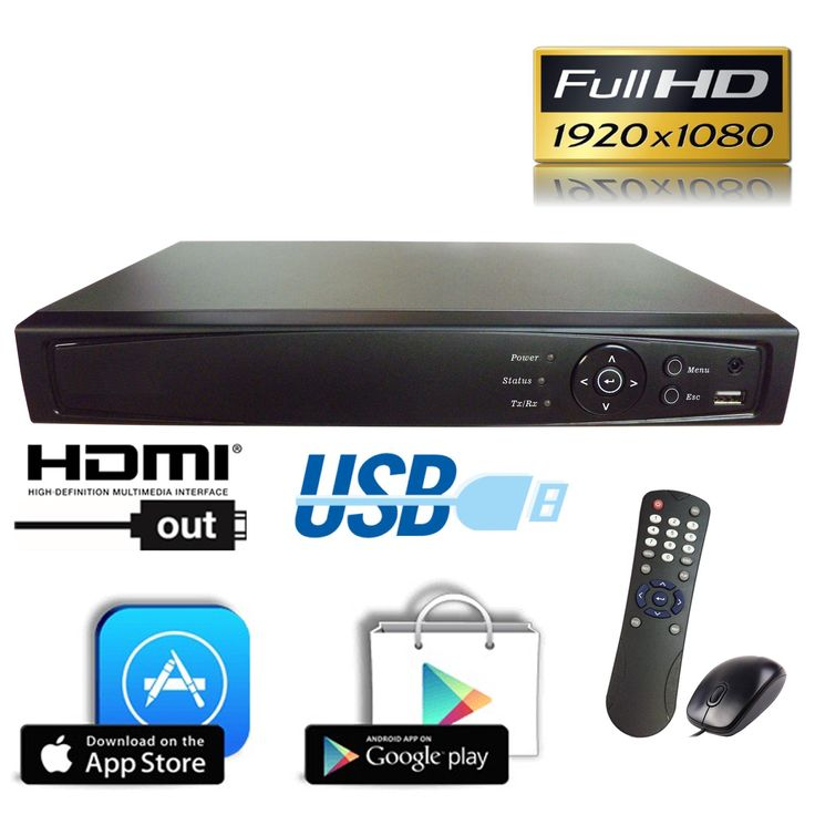 1stPV HD-TVI/Analog/IP 3 in 1 True-HD 1080p H.264 Digital Video Recorder Internet & Mobile Phone HDMI Smart Recording Playback Great for Home Office CCTV System, 16CH HD-TVI DVR, w/ 4TB HDD