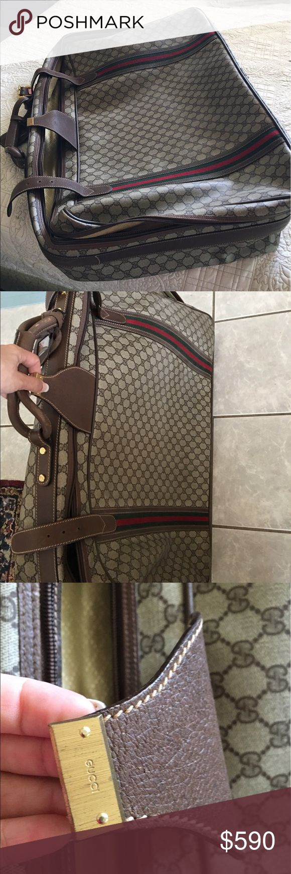 Gucci Large Suitcase with code&block !Awesome! Beautiful investment authentic Gucci Large suitcase vintage good condition! I love this suitcase ! Super stylish  travel. Gucci Bags Luggage & Travel Bags