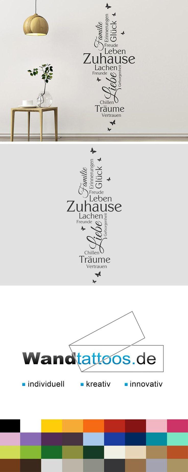Wandtattoo Zuhause Begriffe als Idee zur individuellen Wandgestaltung. Einfach Lieblingsfarbe und Größe auswählen. Weitere kreative Anregungen von Wandtattoos.de hier entdecken!