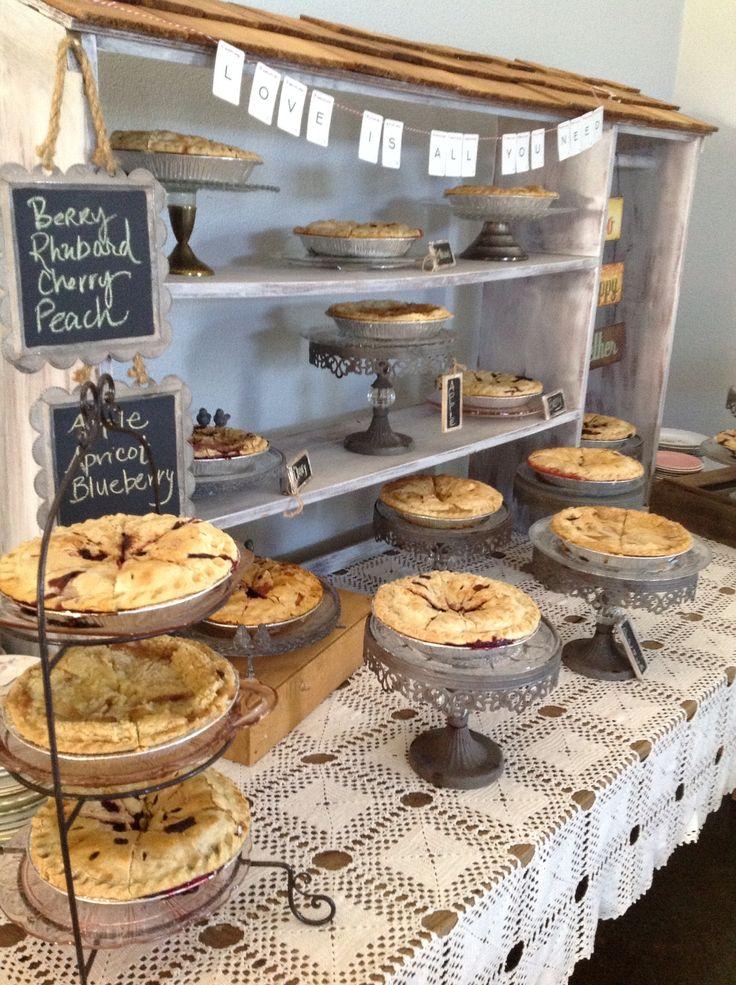 Pie Display at Silver Falls Vineyard