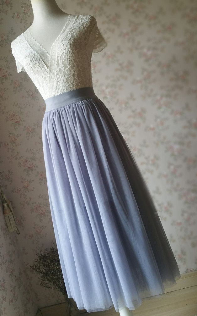 women light gray midi – length tulle – skirt princess skirt, this is very romantic and feminine. data: * material: soft and lightly tutus * color light gray as show, many other colors