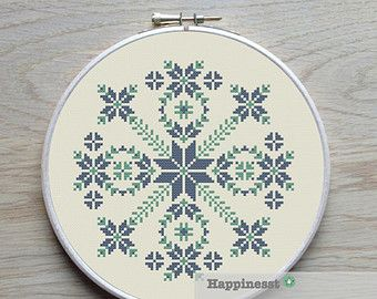 modern cross stitch pattern geometric chevron PDF by Happinesst