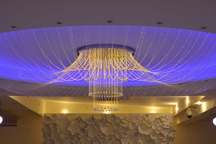 Fiber light chandelier