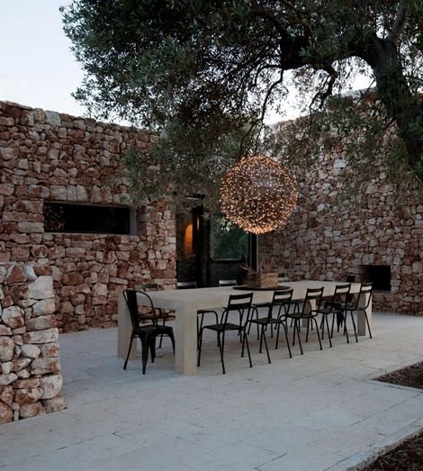 House in the olive grove landscaping interior design ideas