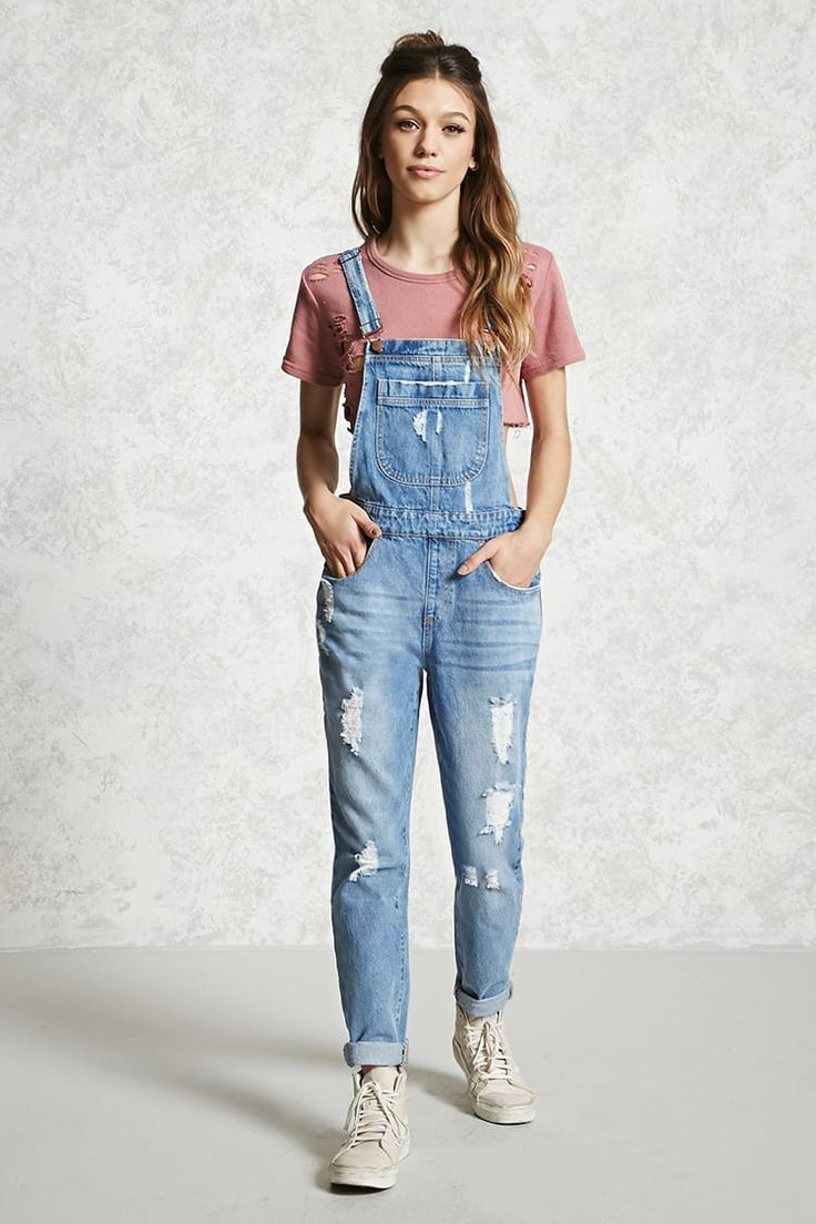 Teenage girl with overalls