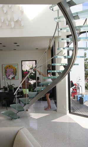 Best Curved Stainless Stair With Laminated Glass Treads Glass 400 x 300