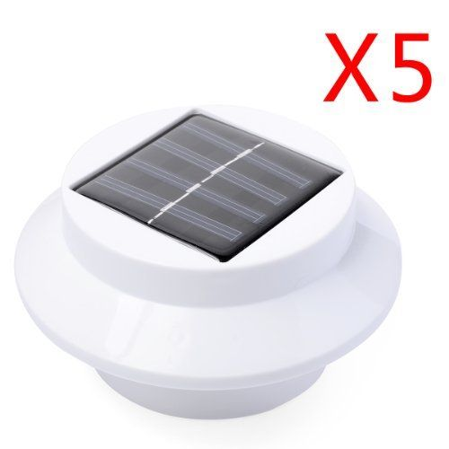 60 best outdoor solar lights images on pinterest solar lanterns 5 pack 3 led solar powered energy saving fence gutter light outdoor garden wall lobby pathway workwithnaturefo