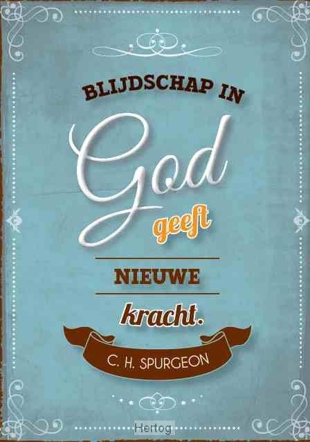 Kaart - Blijdschap in God geeft nieuwe kracht