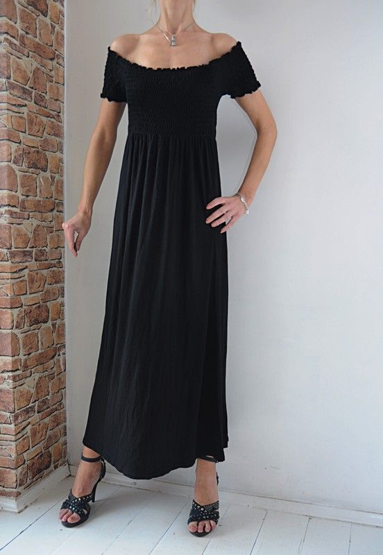 7b5da26076d3c5 Asos sukienka czarna hiszpanka maxi 38 w 2019 | dress | Sukienka ...