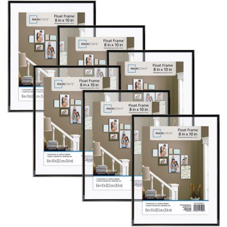 Mainstays 8x10 Float Picture Frame, Set of 6 - Walmart.com