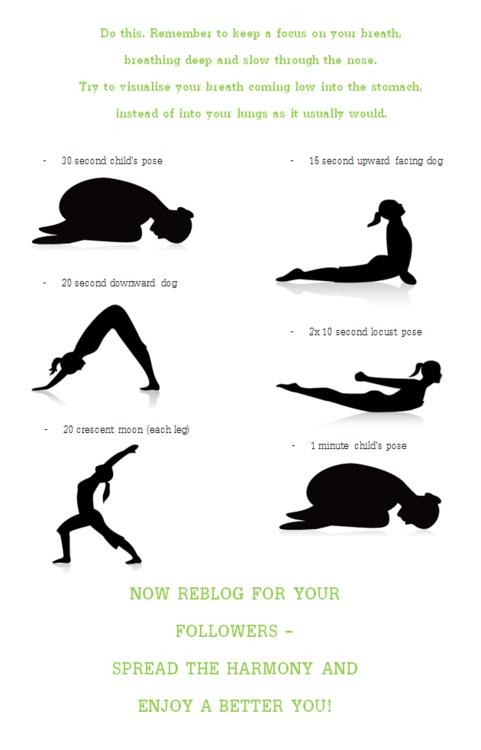 Short yoga routine