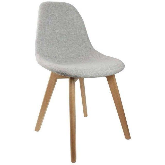 Chaise Scandinave En Tissu Gris Et Pieds En Bois The Concept Factory Aspect Materiau Principal Tissumateriaux Secon Chaise Chaise Scandinave Chaise Design