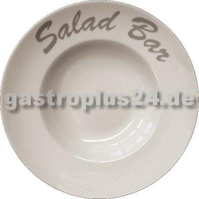 Teller für Pasta oder Salat aus robusten Porzellan. #Pizzateller #Salatteller und #Gastronomiebedarf auf www.gastroplus24.de