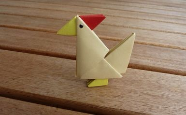 easy origami chicken | Indesign Arts and Crafts
