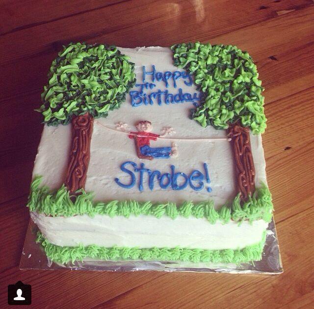 Zip line boys birthday cake