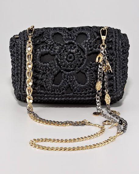 Dolce & Gabbana Miss Charles Crochet Shoulder Bag $1,795.00