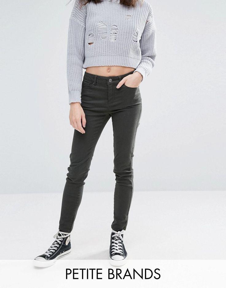 Vero Moda Petite Skinny Jeans - Green