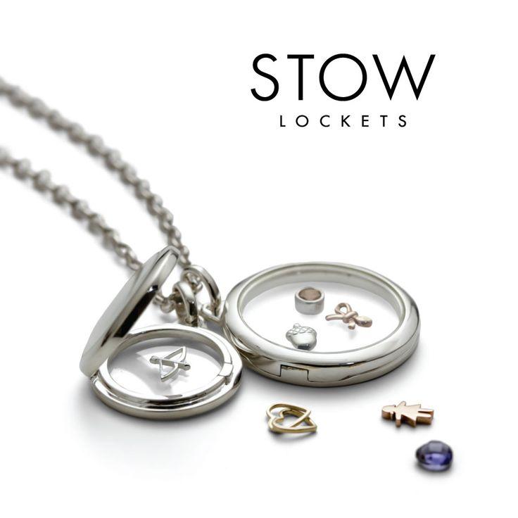 Stow Lockets Beautiful Silver Lockets designed to stow away precious charms <3 #lockets #charms #love #jewellery #stowmystory