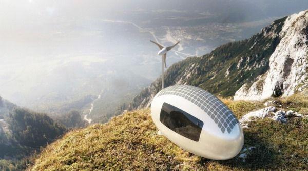 カプセル型の自給自足型マイクロハウス
