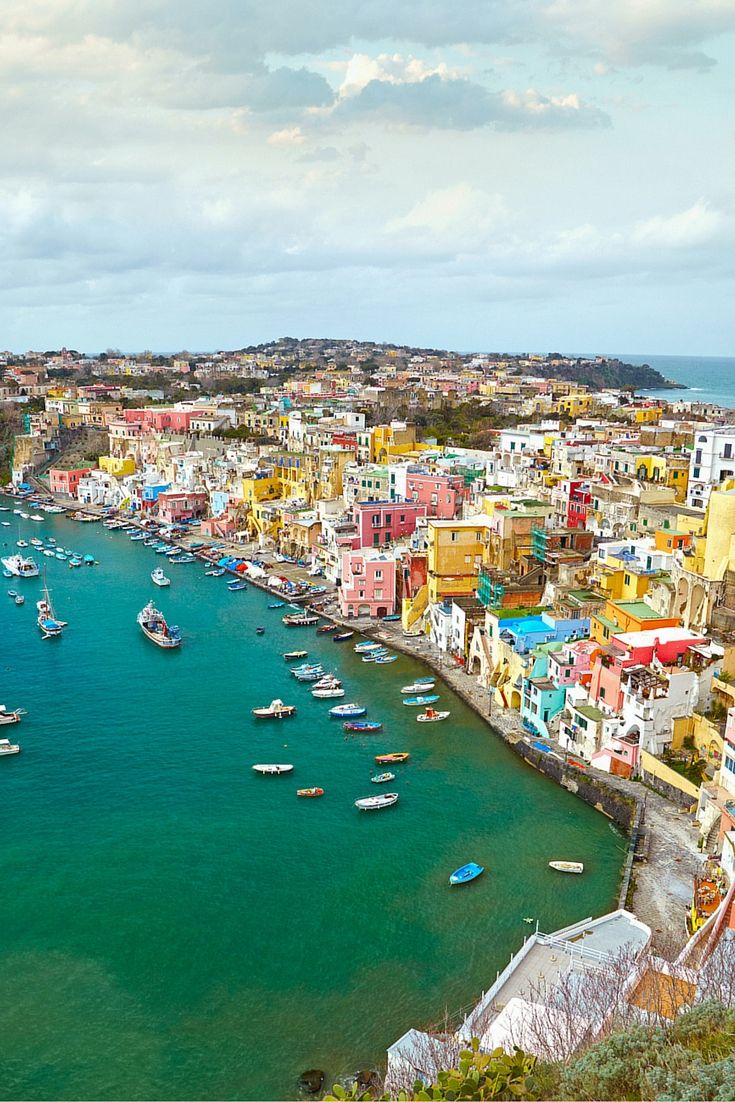 Gorgeous view of a fisherman's villages on the island of Procida, Italy. Click through to see 27 of the most beautiful villages in the world!