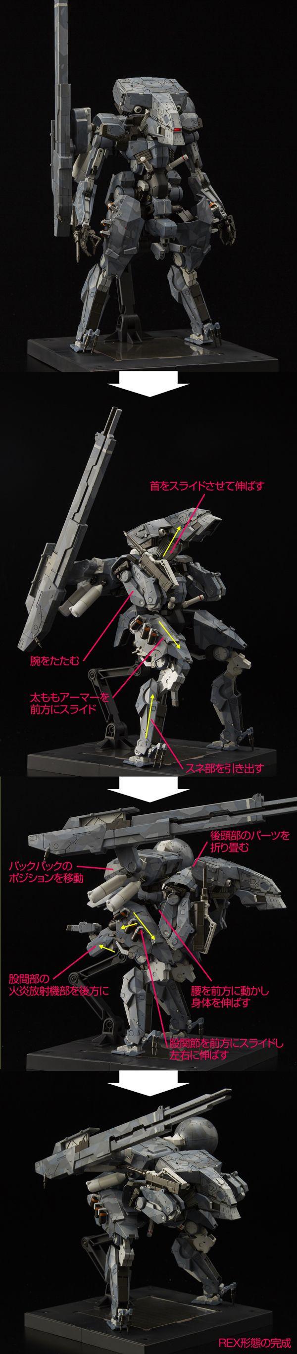 "[METAL GEAR SOLID V:THE PHANTOM PAIN] RIOBOT Series ""Metal Gear Sahelanthropus"" ""Metal Gear REX"" Full Official REVIEW, Full Info http://www.gunjap.net/site/?p=274337"