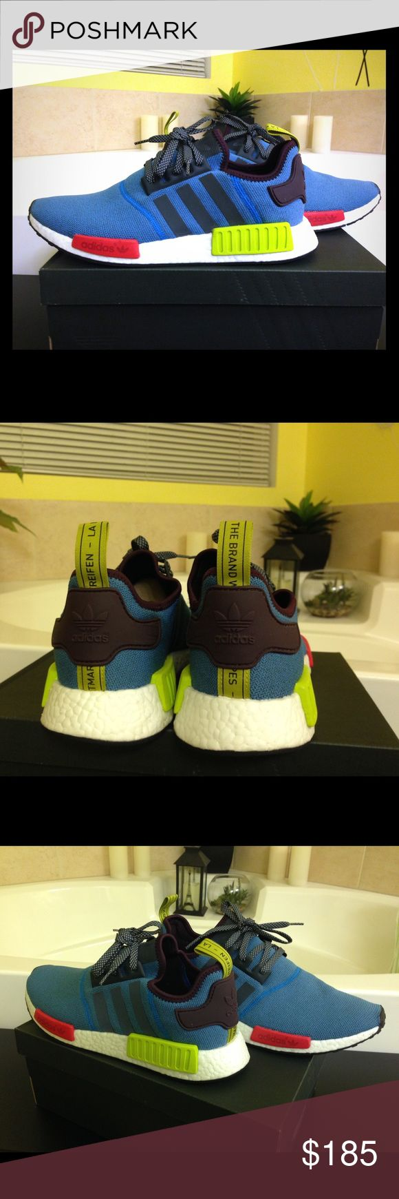 ADIDAS NMD R1 viLLA EXCLUSIVE The shoes that everyone wants to have. The nmd is the reigning sneaker for about 2 years now. I have new ones so just trying to sell some. In great condition always. Check my reviews from my customers. Size 11. This style hasn't been produced since they launched it.just for ViLLA store exclusive. Adidas Shoes Sneakers
