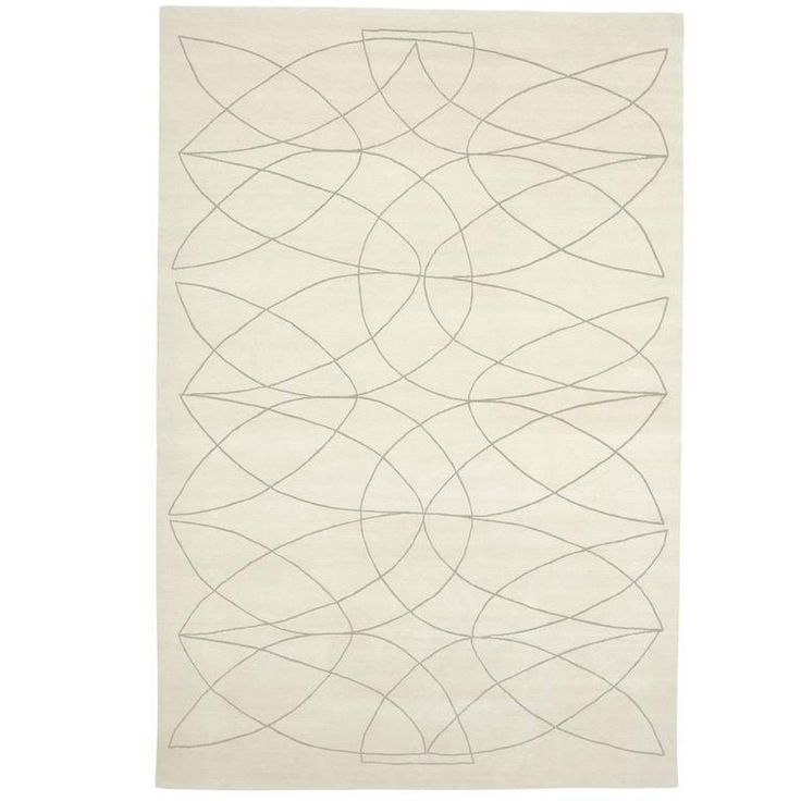Exquisite 'Akana' White Rug | From a unique collection of antique and modern central asian rugs at https://www.1stdibs.com/furniture/rugs-carpets/central-asian-rugs/