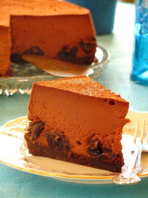 Шоколадный чизкейк с черносливом - dolphy