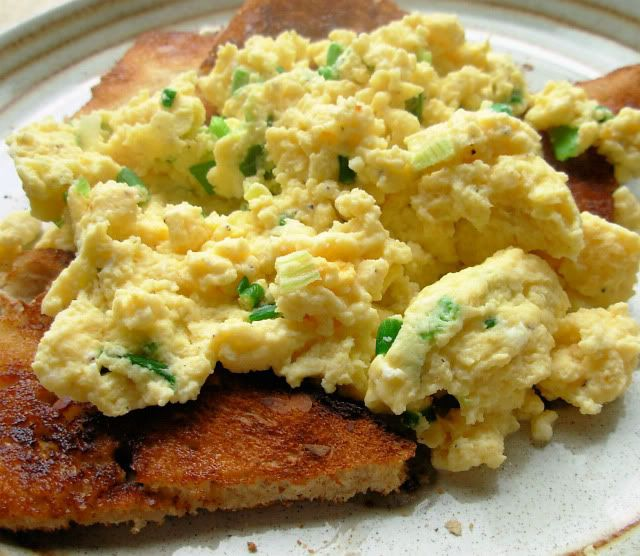 Chive Scrambled Eggs on Toast | Egg On Toast, Scrambled Eggs and Toast ...