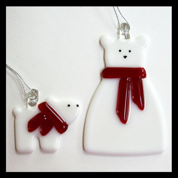 Glassworks Northwest Polar Bear Mom and by glassworksnorthwest