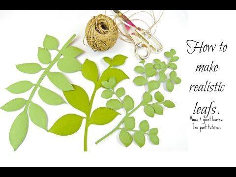 Leafy Vine Set, Leaf SVG Template - Catching  Colorlfies