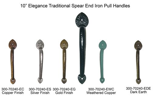 Elegance Traditional Iron Pull Handles Garages Home