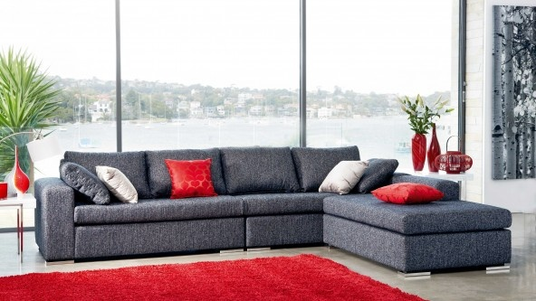 Axel Corner Lounge Suite with Chaise - Lounges & Recliners | Harvey Norman Australia