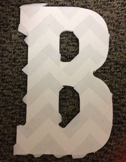DIY chevron letter