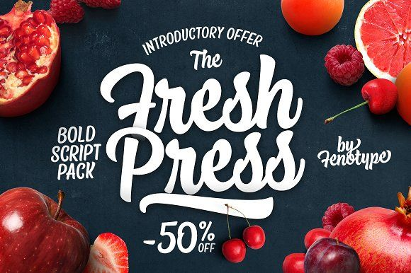 Fresh Press Intro offer -50% off! by Fenotype on @creativemarket
