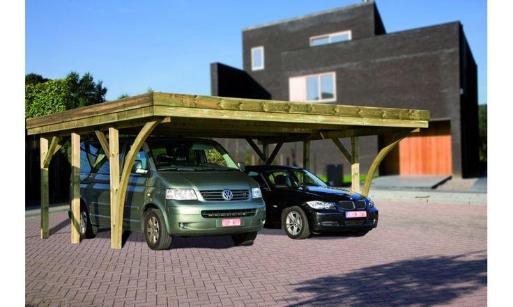 1.368,99 Carport hout dubbel Hannover 604 x 510 cm - MakroShop.be