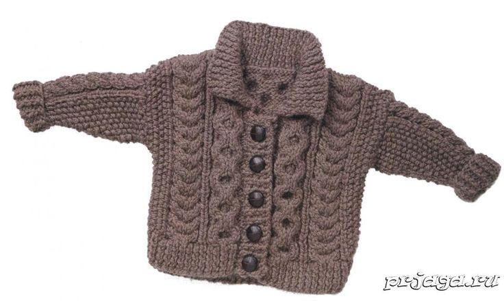 Вязания детской кофточки
