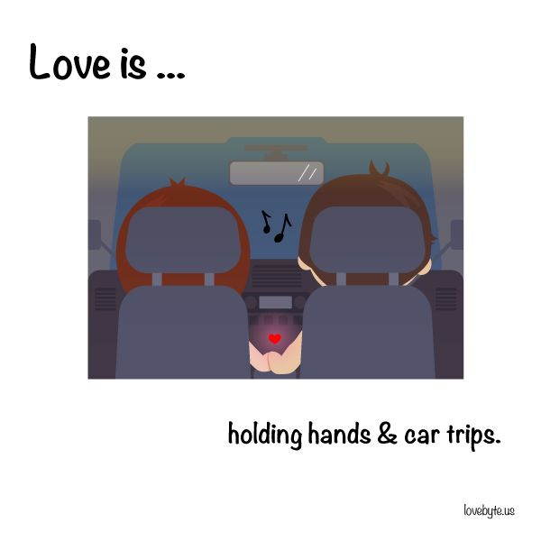 #Love is handing hands.  See more comics on our Facebook page: http://fb.com/lovebyte.us?utm_source=pinterest&utm_campaign=pinterest&utm_medium=pinterest