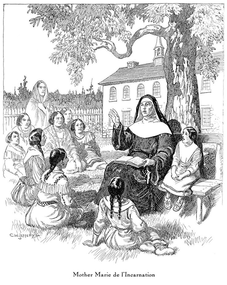 """Mother Marie De L'Incarnation,"" by Charles William Jefferys"