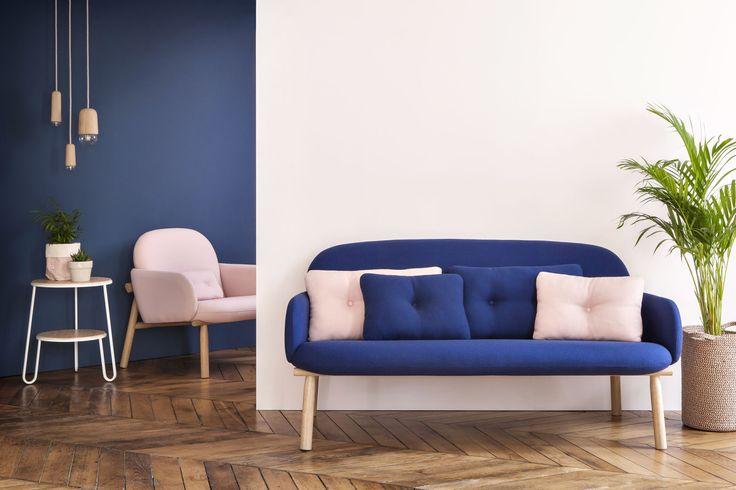 tendenze arredo 2017: divani comodi Sofa due posti Gustave con struttura in legno di quercia, HARTÔ.
