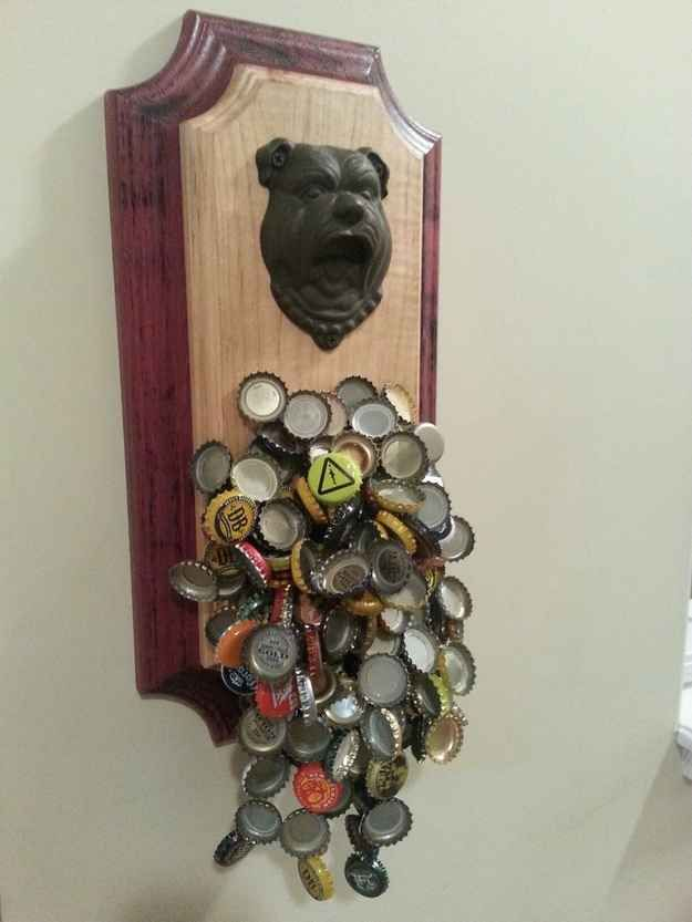 If you ever want a drink, you'll never have to look for a bottle opener with your magnet bottle opener . | 21 Awesomely Geeky Household DIY Projects