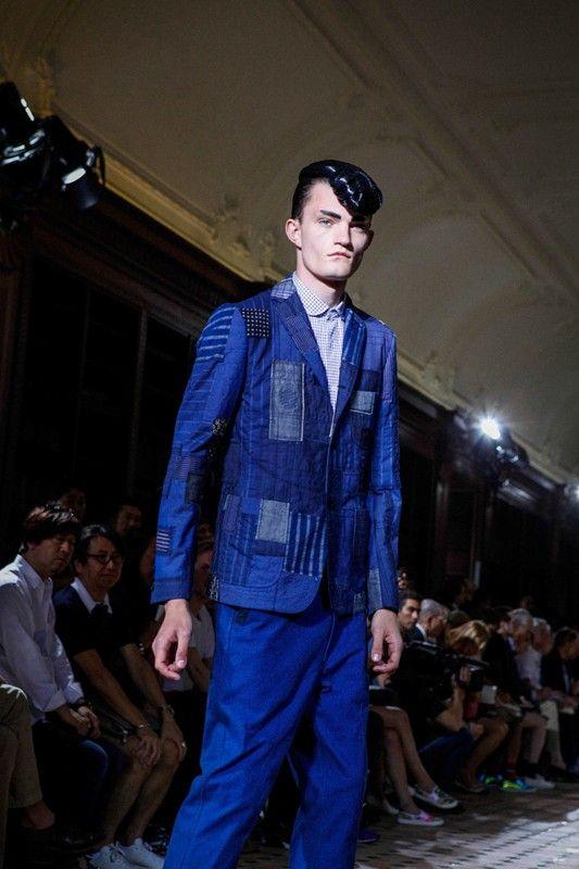 A denim heavy collection at Junya Watanabe Man SS15, Paris menswear. More images here: http://www.dazeddigital.com/fashion/article/20558/1/junya-watanabe-man-ss15