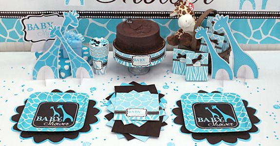 Baby Shower Decorations for Boys   Find Blue Zoo Baby Shower Decorations , up to 50% off tableware, FREE ...