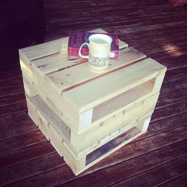 Mini pallet stack made from.. Upcycled pallets of course!