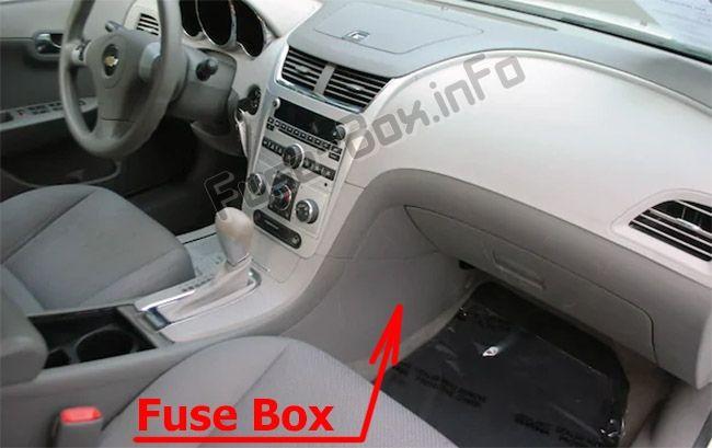 Fuse Box Diagram Chevrolet Malibu 2008 2012 In 2020 Chevrolet Malibu Fuse Box 2012 Chevy Malibu