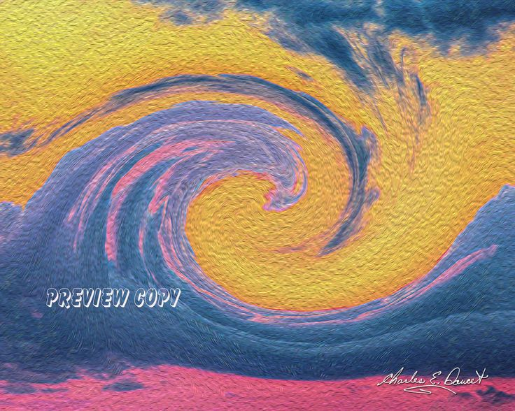 """An impressionistic creation from one of my painterly photographs. Title: """"Sea meets Sky."""""""