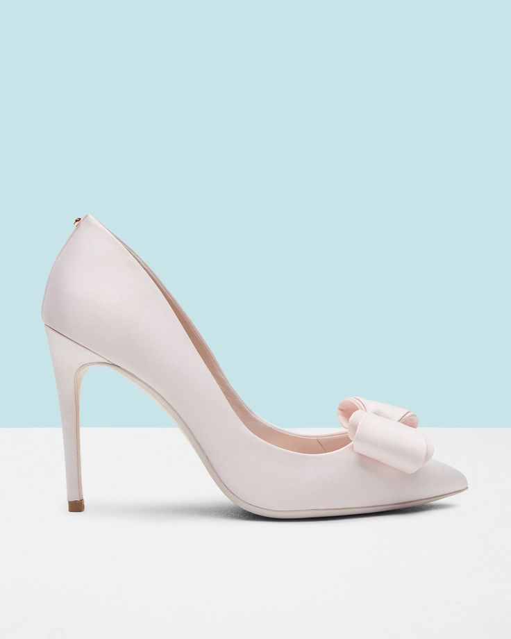 Bow detail satin courts - Baby Pink | Shoes | Ted Baker
