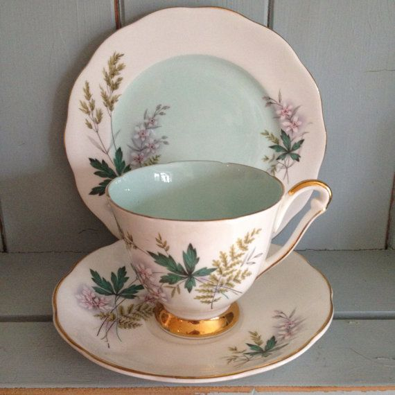 Queen Anne Vintage Bone China Tea Cup Saucer and Plate Trio