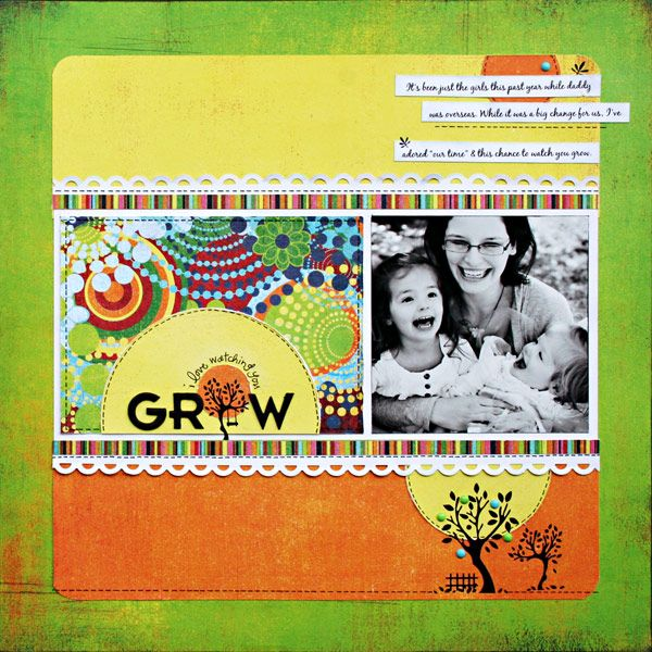 *Grow* - Scrapbook.com BasicGrey - Lime Rickey Collection
