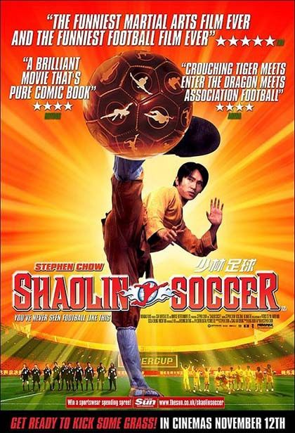 Shaolin Soccer (2001): another fun kung fu comedy from Stephen Chow